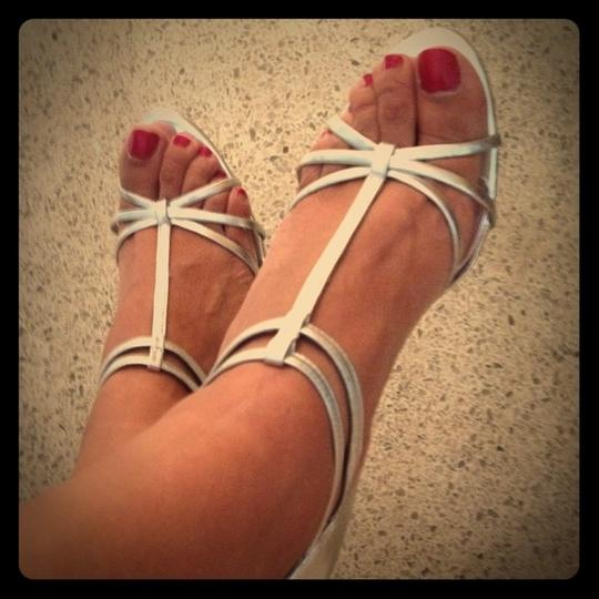 INC International Concepts Strappy Silver Sandals