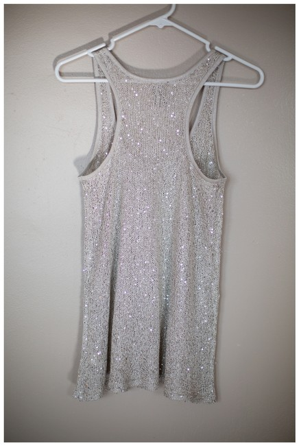 Guess Sheer Shimmery Gold Top Beige