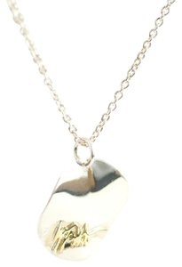 Ippolita IPPOLITA Sterling Silver Wavy Disc 18K Yellow Gold Signature Pendant Necklace