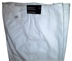 Banana Republic Work Work Career Martin Fit Low Rise Slim Trouser Pants White