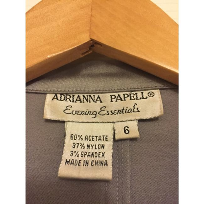 Adrianna Papell Top Silver/Pewter