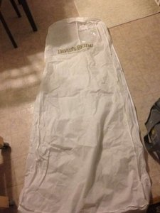 David's Bridal White Garment Bag