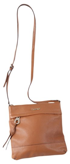 Preload https://item5.tradesy.com/images/calvin-klein-grained-camel-brown-leather-cross-body-bag-12903139-0-1.jpg?width=440&height=440