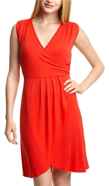 Preload https://item3.tradesy.com/images/spense-bright-coral-faux-wrap-sleeveless-above-knee-short-casual-dress-size-6-s-12903292-0-1.jpg?width=400&height=650