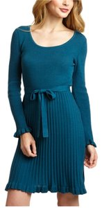 Spense short dress Blue Spruce Ribbed Tie Waist Scoopneck on Tradesy
