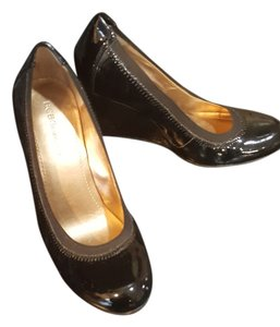 INC International Concepts Black/patent leather Wedges