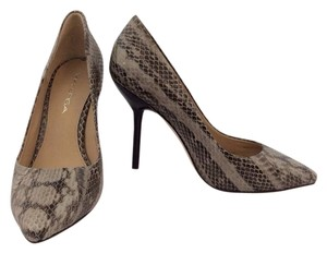 Via Spiga Mia Python Snake Dress Heels Grey Pumps