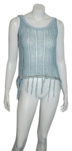 Vintage Havana Womens Lace Sleeve Flowy Top blue