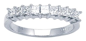 In Wedding Dress 9 Stones Princess Cut Band