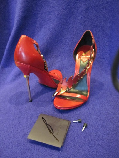 Brian Atwood Red Sandals