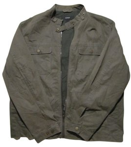 Alfani Dark Olive Green Womens Jean Jacket