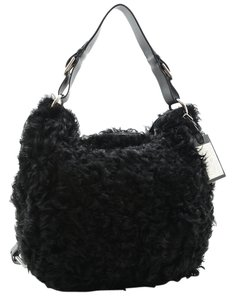 Ralph Lauren Collection Shearling Leather Hobo Bag