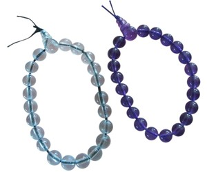 Purple & Clear Acrylic Bead