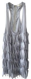 Sugarlips Feathers Zipper Top Silver