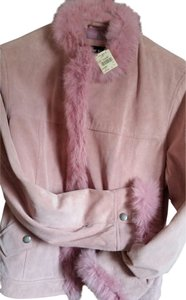 Prada Suede Fur Rabbit Pink Leather Jacket
