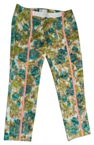 ZIMMERMANN Capri/Cropped Pants Floral brocade turquoise gold metallic lime