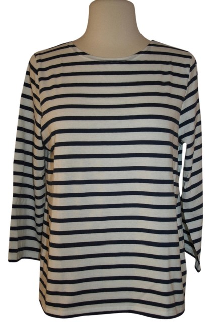 Preload https://item3.tradesy.com/images/jcrew-white-navy-saint-james-for-slouchy-m-tee-shirt-size-8-m-12905077-0-2.jpg?width=400&height=650