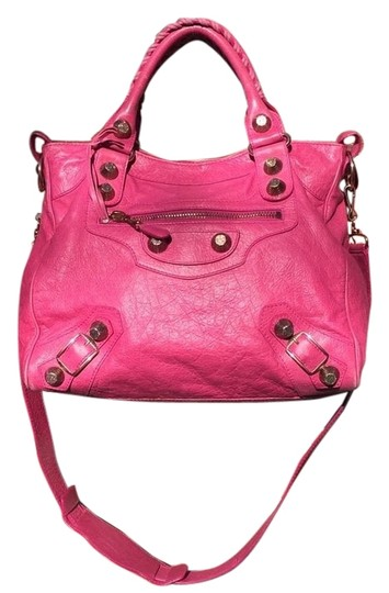 Preload https://item3.tradesy.com/images/balenciaga-bright-giant-rose-gold-hardware-velo-htf-pink-leather-cross-body-bag-12905287-0-1.jpg?width=440&height=440
