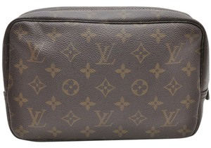 Louis Vuitton Auth Louis Vuitton Monogram Trousse Toilette 23 Clutch Hand Bag M47524 LV