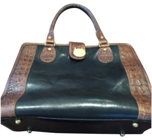 Brahmin Satchel in Black/brown