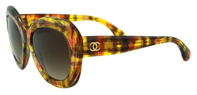 Item - Yellow Orange New 5323 Polarized Butterfly Tweed Pattern Signature Collection 2015-2016 Retail Sunglasses