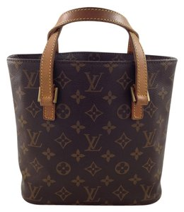 Louis Vuitton Monogram Canvas Tote in Brown & Tan