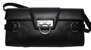 Salvatore Ferragamo Leather Black Clutch