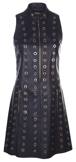 Preload https://item2.tradesy.com/images/michael-kors-blue-sleeveless-zip-front-leather-moto-shift-mid-length-short-casual-dress-size-4-s-12906121-0-1.jpg?width=400&height=650