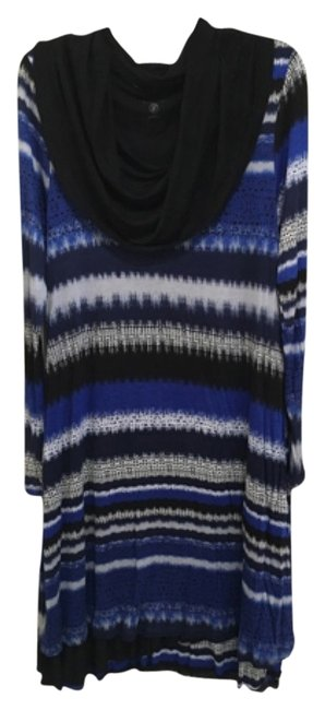 Preload https://item1.tradesy.com/images/kensie-black-blue-navy-blue-gray-and-white-mid-length-short-casual-dress-size-petite-4-s-12906190-0-1.jpg?width=400&height=650
