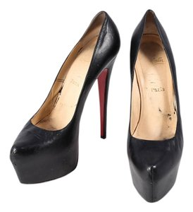 Christian Louboutin Leather Stilleto Black Platforms