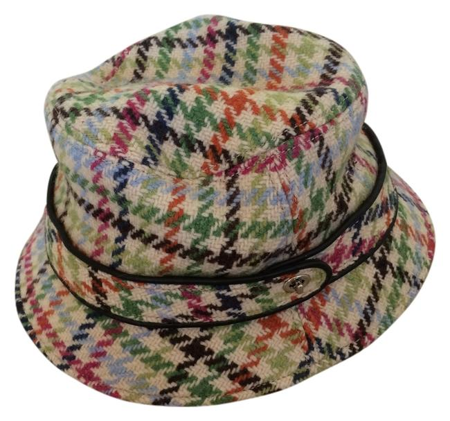 Item - Multi Green Brown Orange Pink Blue Bucket Wool Herringbone Hat