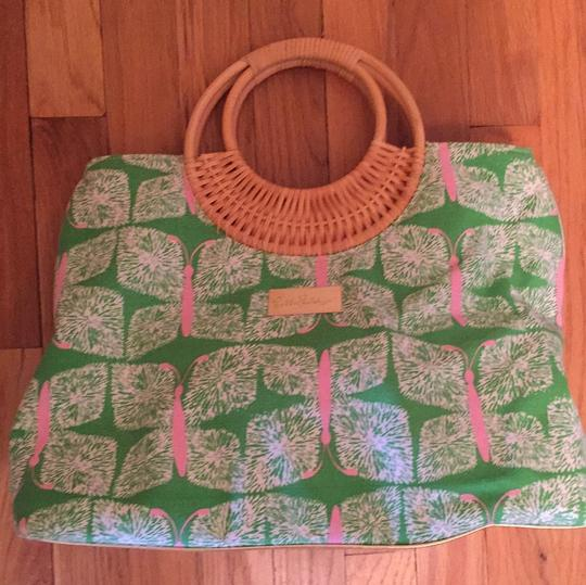 Lilly Pulitzer Satchel in Green/pink