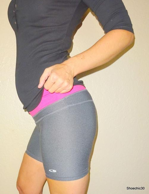Champion Yoga Fitness Style Gym Fashionista Style Love Gym Cycling Train Running Grey Gray Pink Silver Reflect Shorts