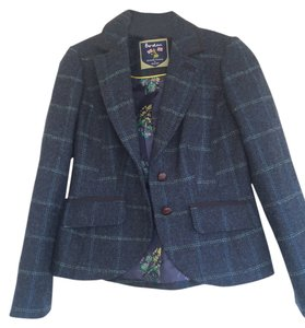 Boden Navy with large blue plaid Blazer