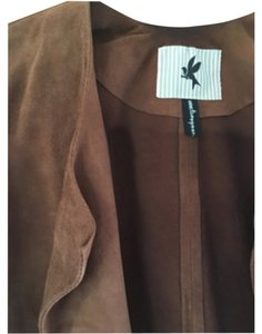 One Teaspoon Unfinished Hem Rich brown leather ans suede Leather Jacket