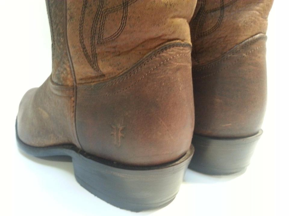 Frye Billy Booties Brown Stitch Boots rrAfYB