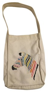 Marc Jacobs Zebra Canvas Tote in Natural