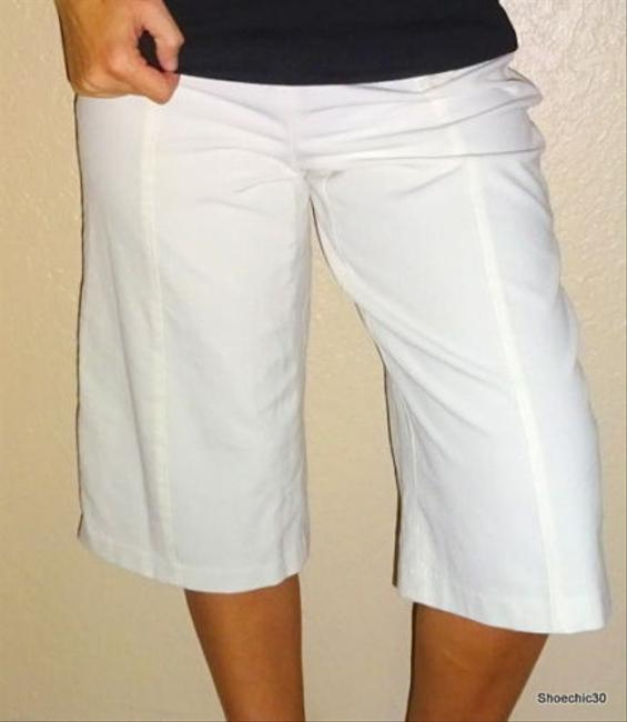 Worthington Petite Kulott Career Professional Crop Pants Shorts Style Fashion Fashionista Date Love Sexy Shoechic30 Capris Ivory Creme White