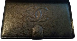 Chanel Chanel,Black,L-ZIp,Wallet