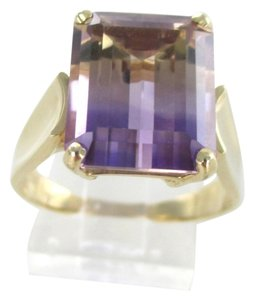 Other 14KT YELLOW GOLD RING AMETRINE AMETHYST WEDDING BAND ENGAGEMENT STONE FINE JEWEL