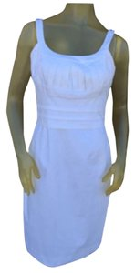 Calvin Klein White Cotton Sheath Dress Size 10 Dress