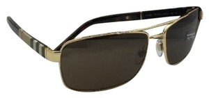 6a043d120f55 Burberry New BURBERRY Sunglasses B 3081 1017/73 63-16 Gold Aviator Frame w