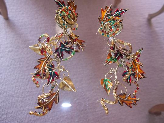 Lunch at the Ritz Esme Hecht & Alexis Watts Turning leaves Gold posts crystals and 24kt gold