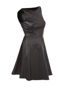 A.B.S. by Allen Schwartz Mini Faux Leather Date Fall Dress