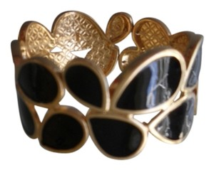 Premier Designs Premier Designs Black & Antiqued Matte Gold Stretch Bracelet RV$44