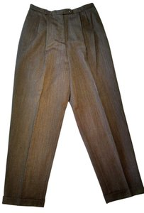 Talbots Relaxed Pants Heather brown