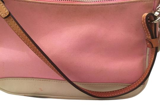 Preload https://item5.tradesy.com/images/coach-pink-and-tan-leather-canvas-shoulder-bag-12907594-0-2.jpg?width=440&height=440