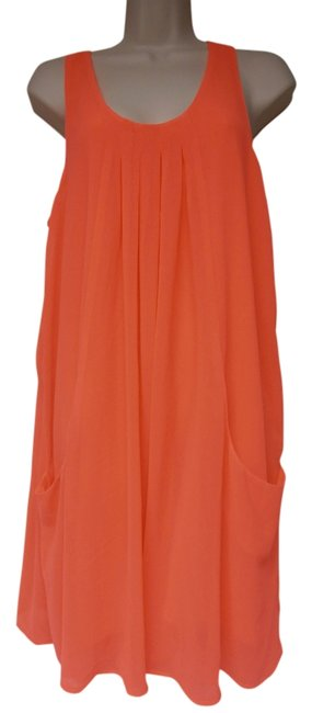 Preload https://item2.tradesy.com/images/h-and-m-neon-pinkcoral-lightweight-lined-knee-length-short-casual-dress-size-10-m-12907621-0-1.jpg?width=400&height=650