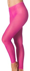 American Apparel Mesh Fluorescent Pink Leggings