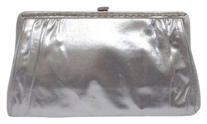 Other Vintage Evening Metallic Lame Mid Century Elegant Silver Clutch